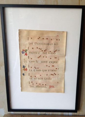17th Century Sacred Music On Parchment