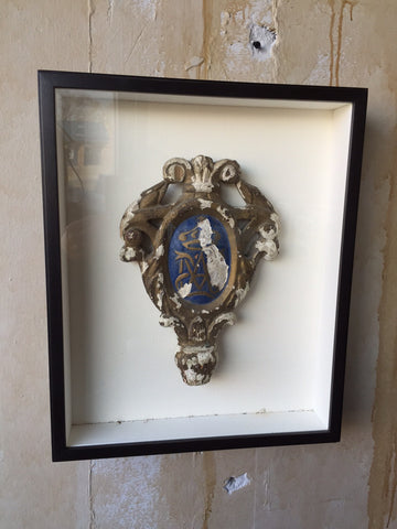 Framed Antique Religious Fragment