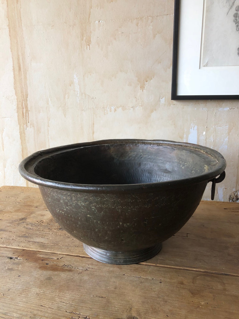 Italian Antique Hand Hammered Copper Bowl