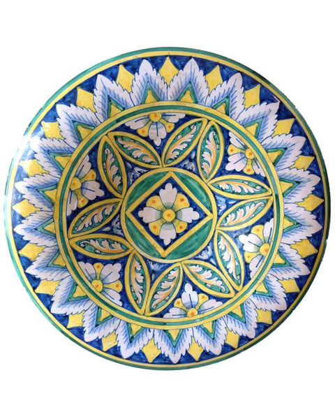 Italian Majolica Ceramic Wall Plate - Mercato Antiques - 1
