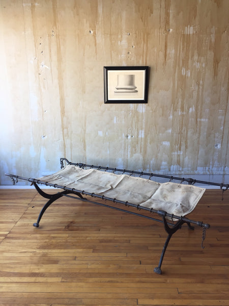 Forged Wrought Iron Military Campaign Bed