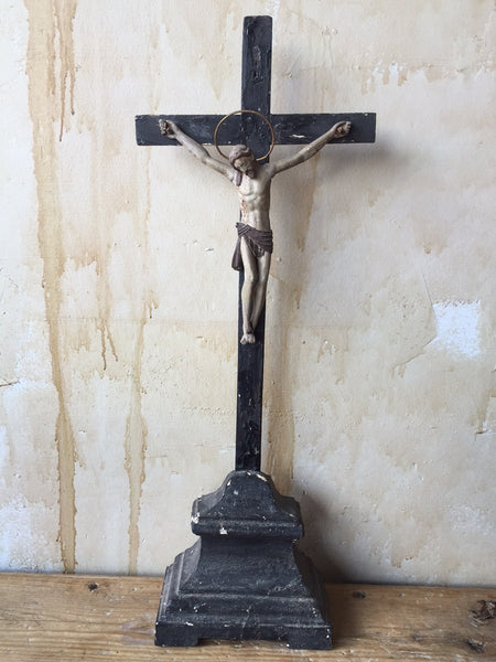 Antique Religious Crucifix Cross Mercato Antiques