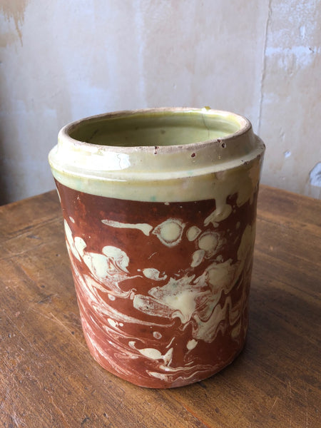 (SOLD) Pugliese Marbleized Canister- 7.25""