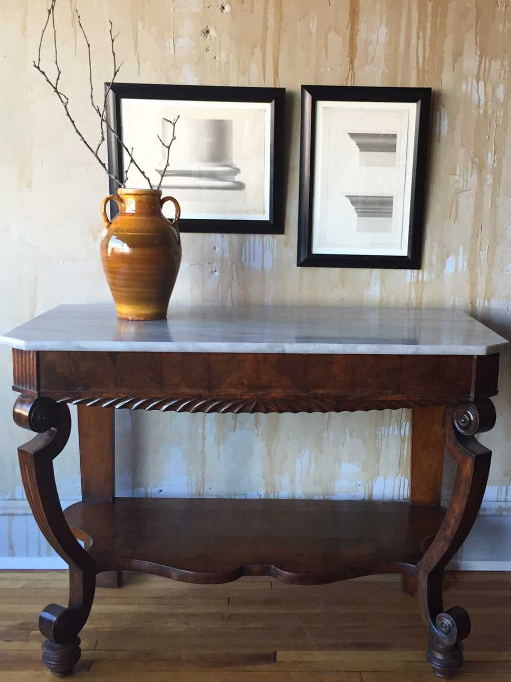 Vintage Foyer Bench : Antique italian entry hall table