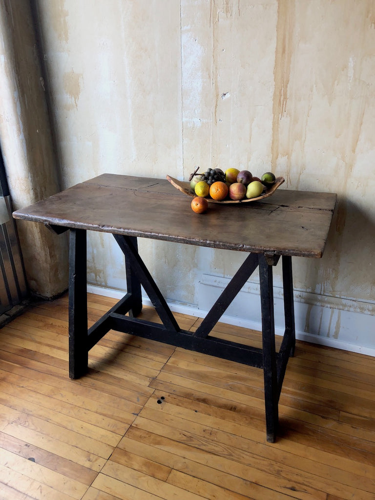 Italian Antique Trestle Table