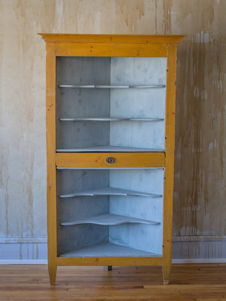 (SOLD) 18th Century Italian Painted Corner Cabinet
