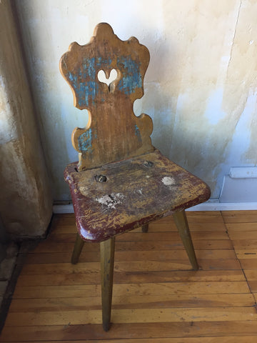 Small Painted Tyrolean Antique Chair
