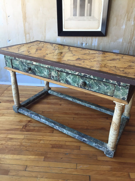 Painted Italian Antique Table - Mercato Antiques - 1