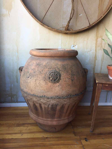 Italian Antique Terracotta Oil Pot