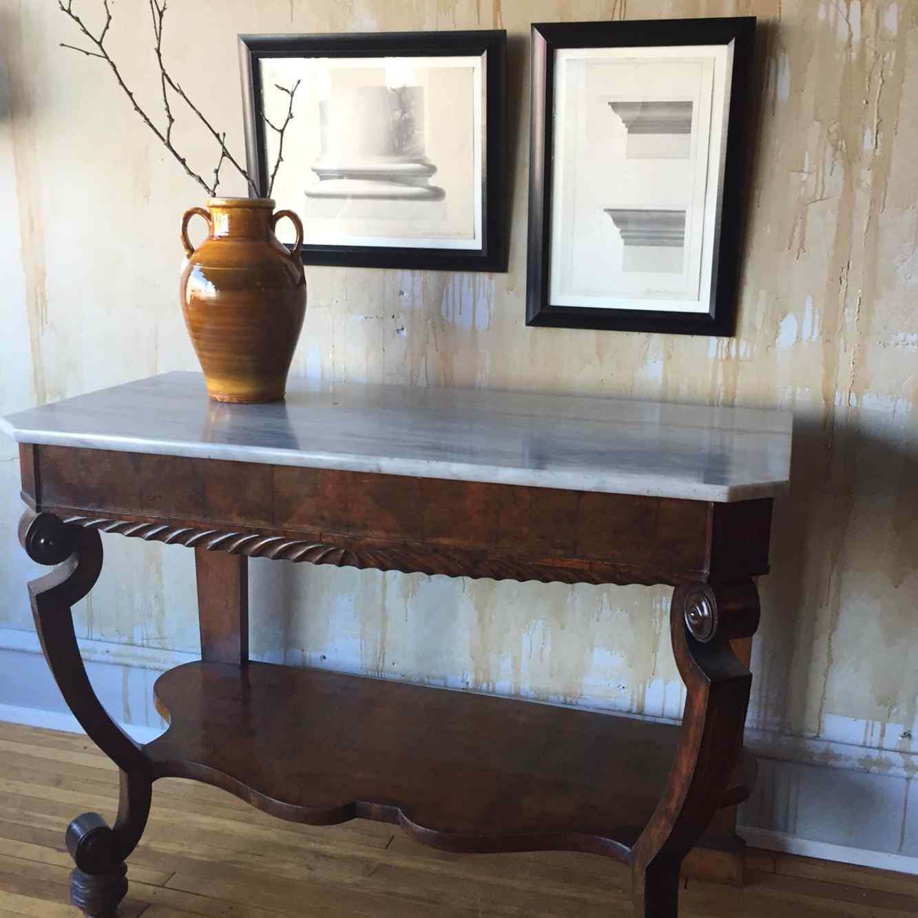 Vintage Entry Table Display ~ Antique italian entry hall table