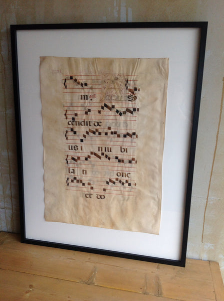 17th Century Music Manuscript-Large - Mercato Antiques - 1