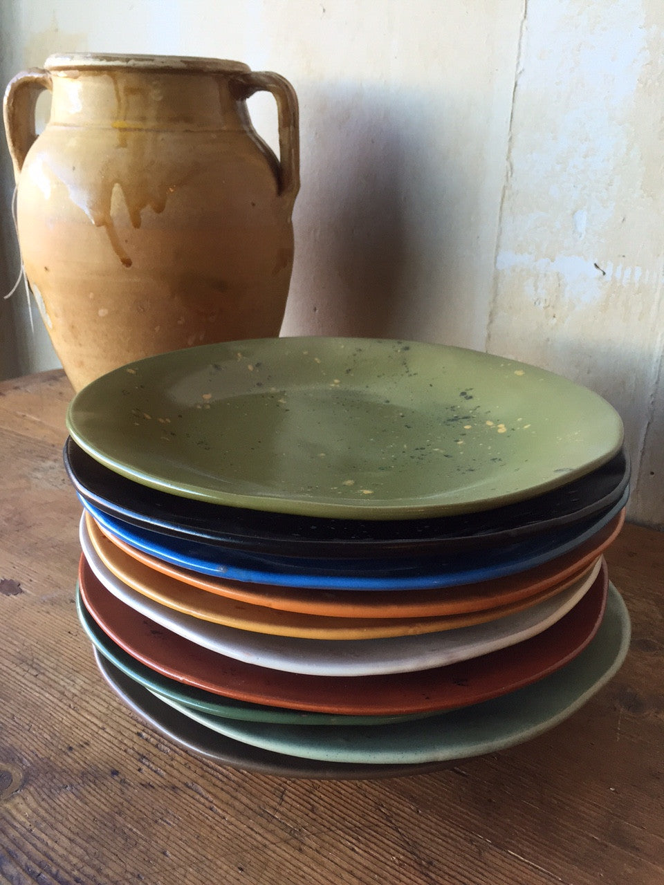 Colorful Dinner Plates - Mercato Antiques - 1 ... & Colorful Italian Dinner Plates