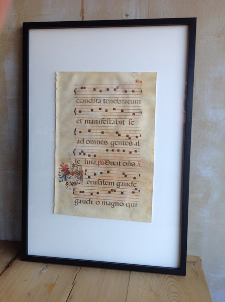 Antique Sacred Music On Parchment - Mercato Antiques - 1