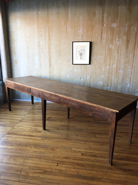 Long Rustic Dining Table- Seats 10