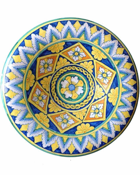 Hand Painted Italian Majolica Decorative Plate - Mercato Antiques - 1