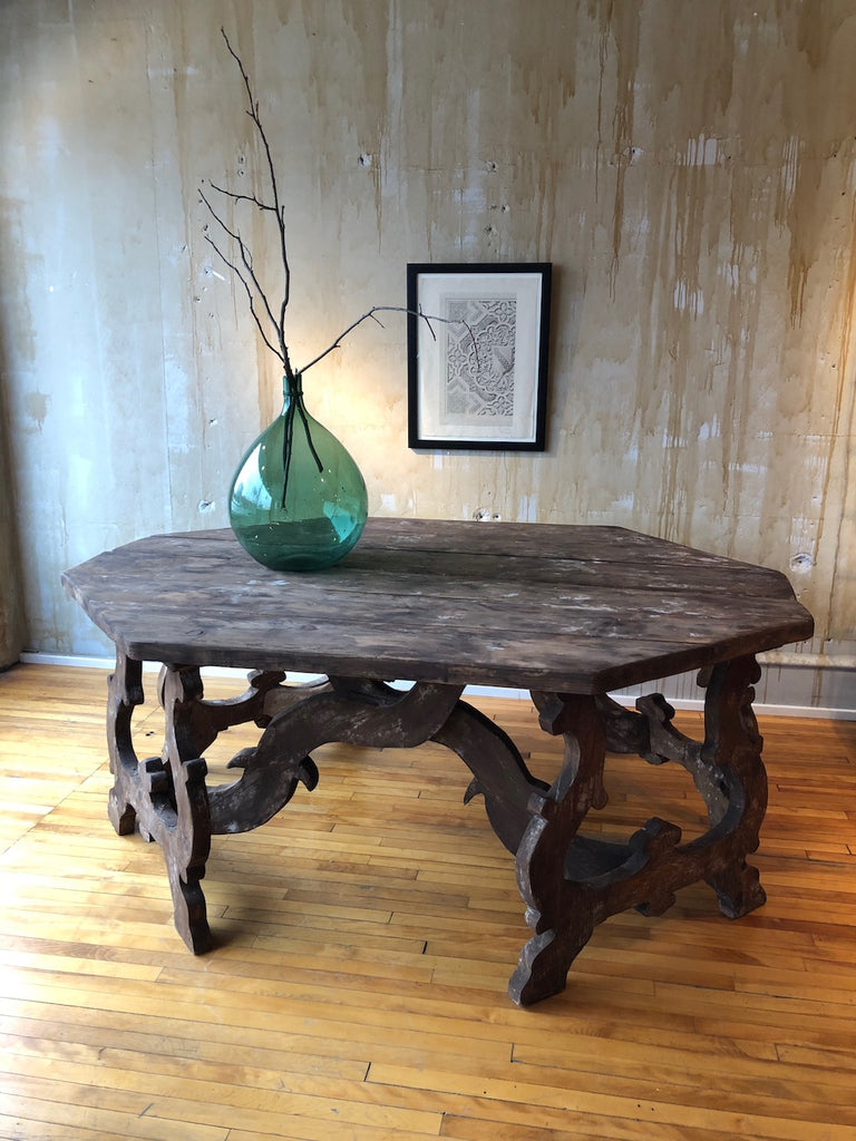 Large Demilune Console Tables- A Pair