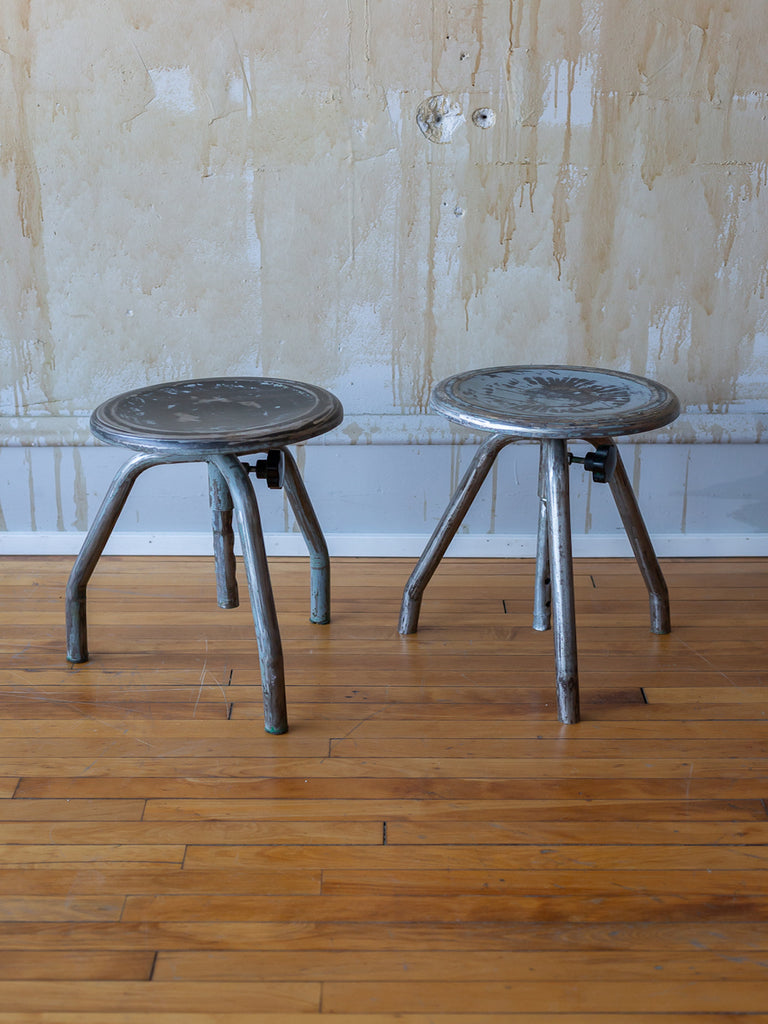Pair of Italian Vintage Industrial Stools