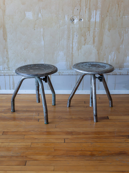 Pair Bed Stools: Antique Benches + Stools + Beds