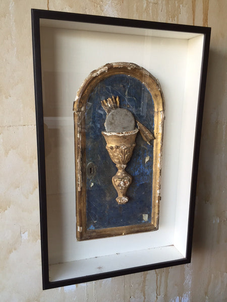 Framed Italian Antique Tabernacle Door - Mercato Antiques - 1