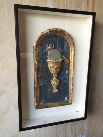 Framed Italian Antique Tabernacle Door