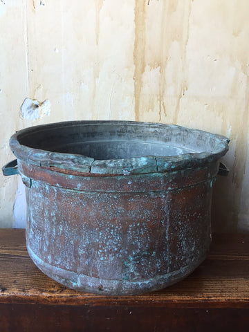 Antique Copper Bucket