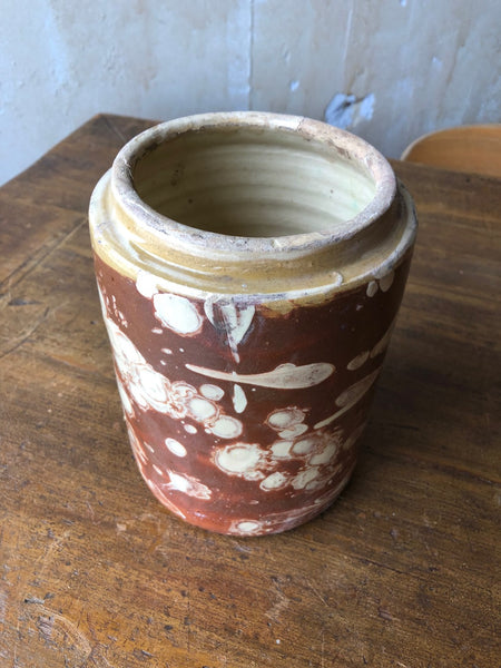 "(SOLD) Pugliese Marbleized Canister-7""H"