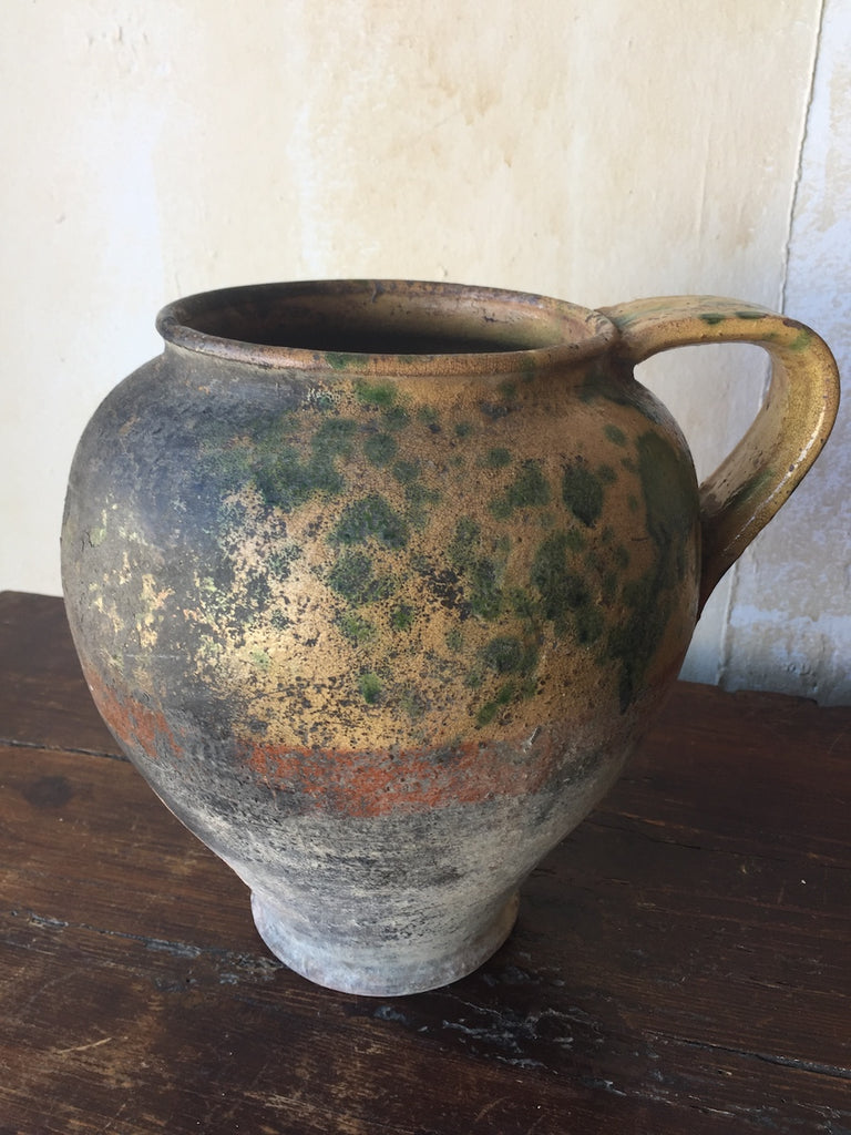 (SOLD)Rustic Tuscan Antique Pot