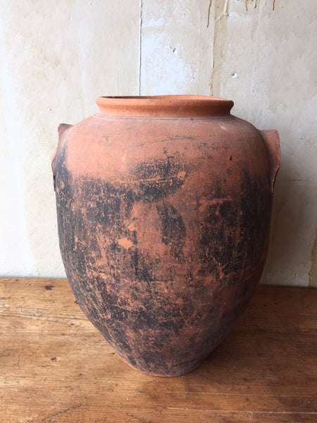Italian Antique Terra Cotta Jar - Mercato Antiques - 1
