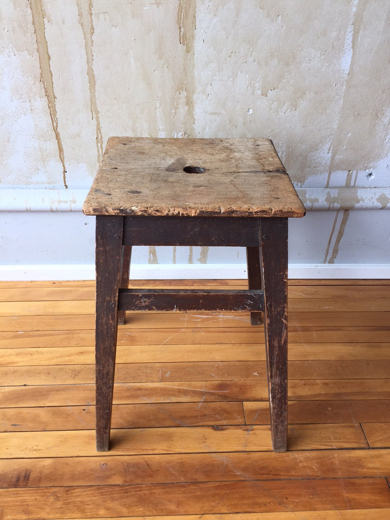 Rustic Vintage Italian Stool (SOLD) - Mercato Antiques - 1