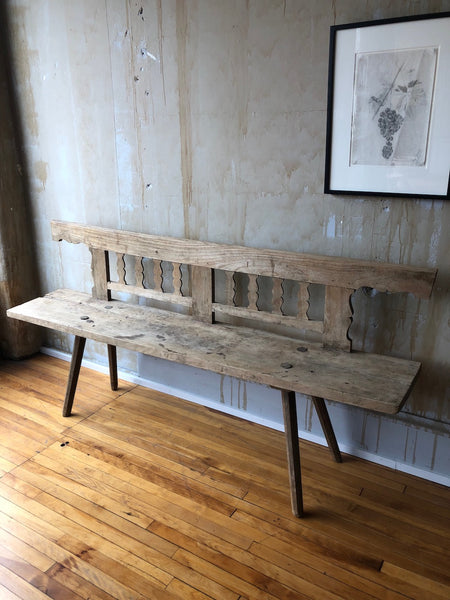 (SOLD) Rustic Italian Wooden Bench