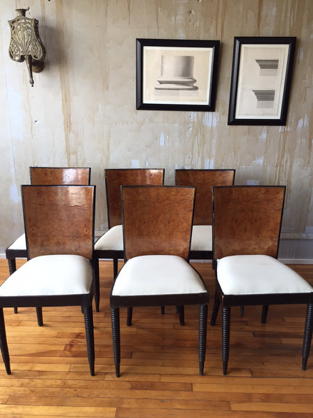 Italian Art Deco Chairs- (SOLD) - Mercato Antiques - 1