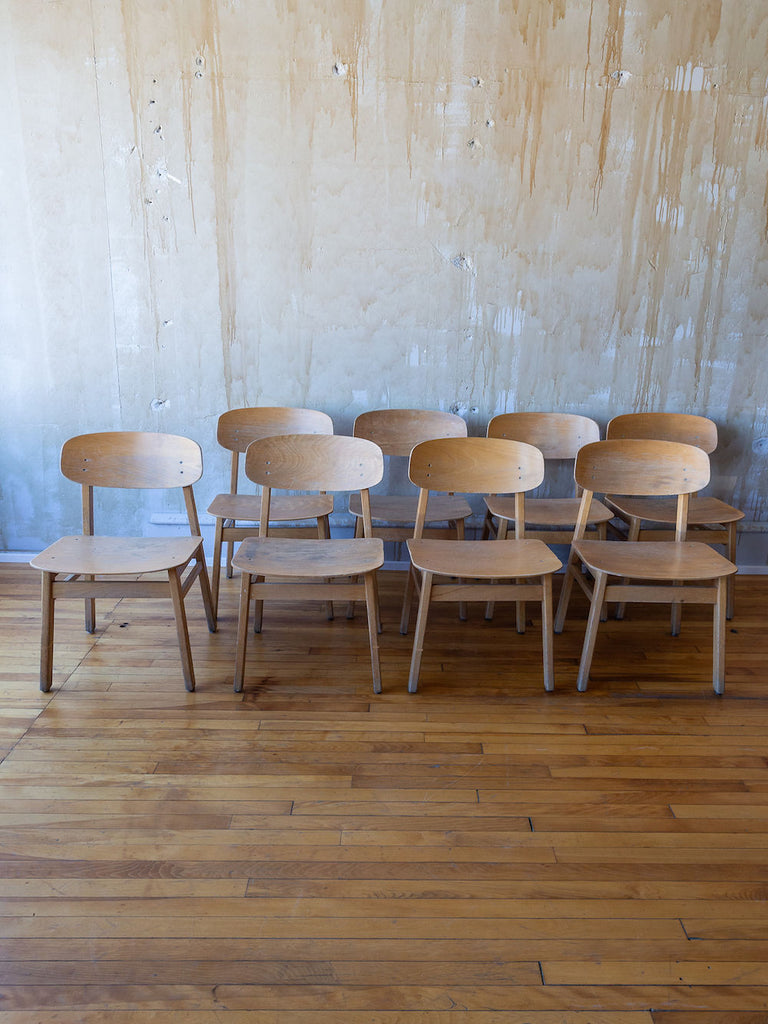 VIntage School Chairs- Set of 8 or can be purchased individually.