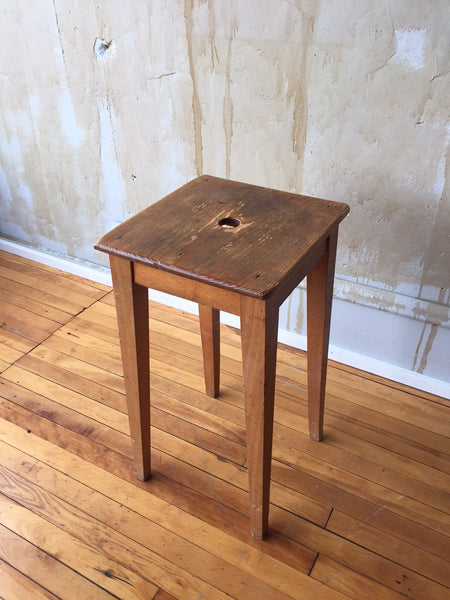 Vintage Italian Wooden Stool - Mercato Antiques - 1