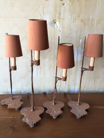 Small Italian antique Iron lamps - sold individually