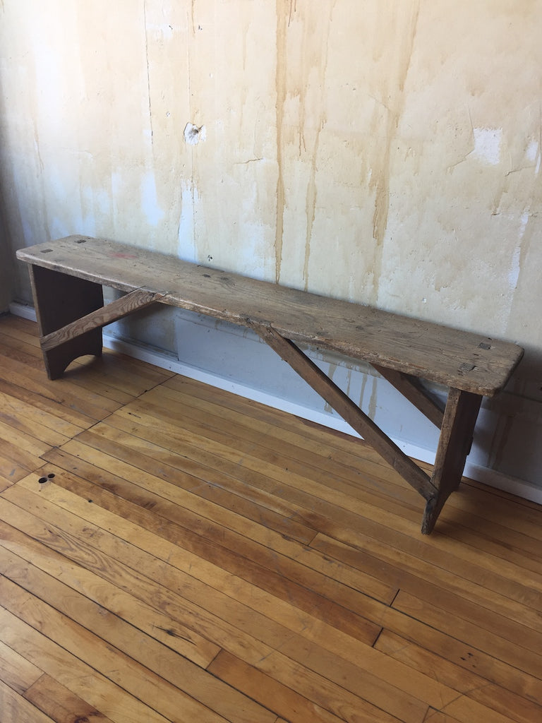 (SOLD) Small Tuscan Bench