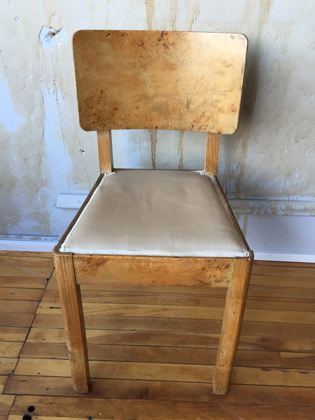 Italian Art Deco Chair- 1 of 2 available - Mercato Antiques - 1
