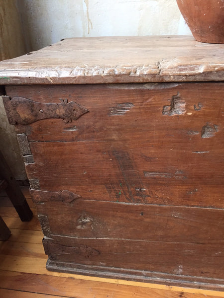 Rustic Spanish Antique Trunk Sold