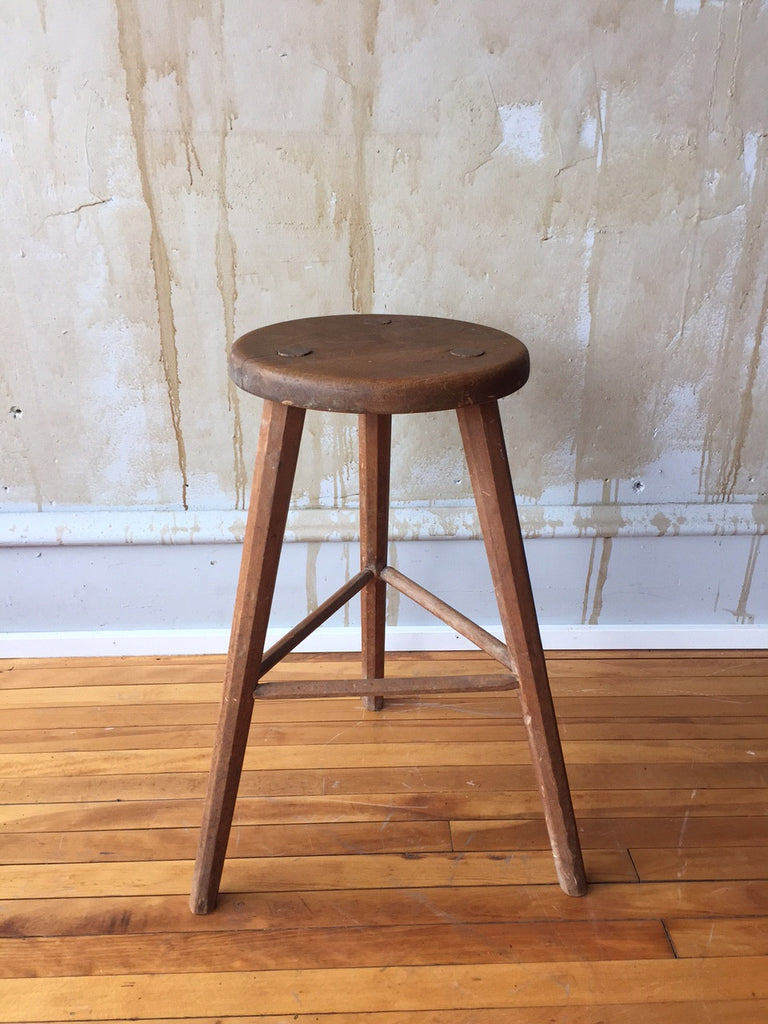 Three Leg Vintage Italian Stool (SOLD) - Mercato Antiques - 1