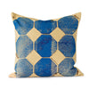 Blue Octagon Throw Pillow - Mercato Antiques - 1
