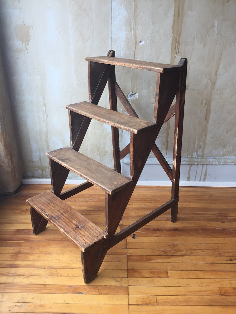 (SOLD)Tuscan Antique Step Ladder
