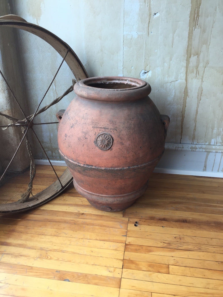 Antique Terracotta Oil Pot- Italian