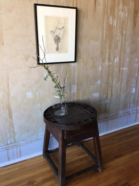 Sold Small Round Antique Side Table Shoemaker S Table