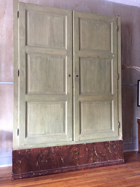 (SOLD)Large Italian Antique Archive Cabinet
