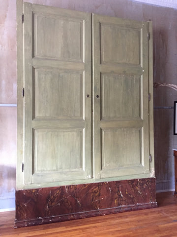 Large Italian Antique Archive Cabinet