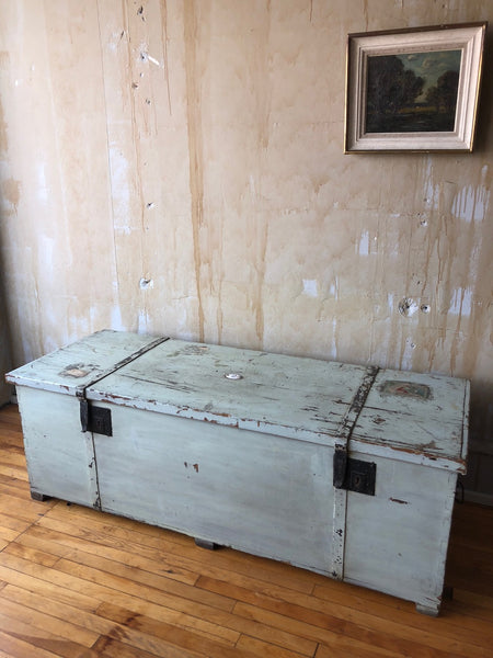 (SOLD) Tuscan Antique Trunk