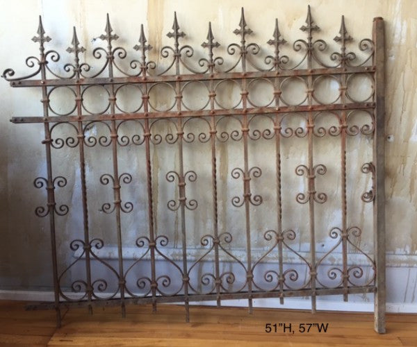 Italian Antique Wrought Iron Fence (SOLD)