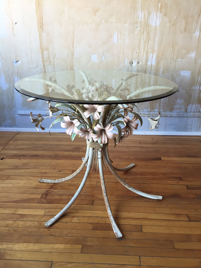 Italian VIntage Tole Table - Mercato Antiques - 1