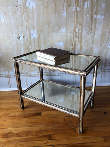 (SOLD) Vintage Mirrored Table
