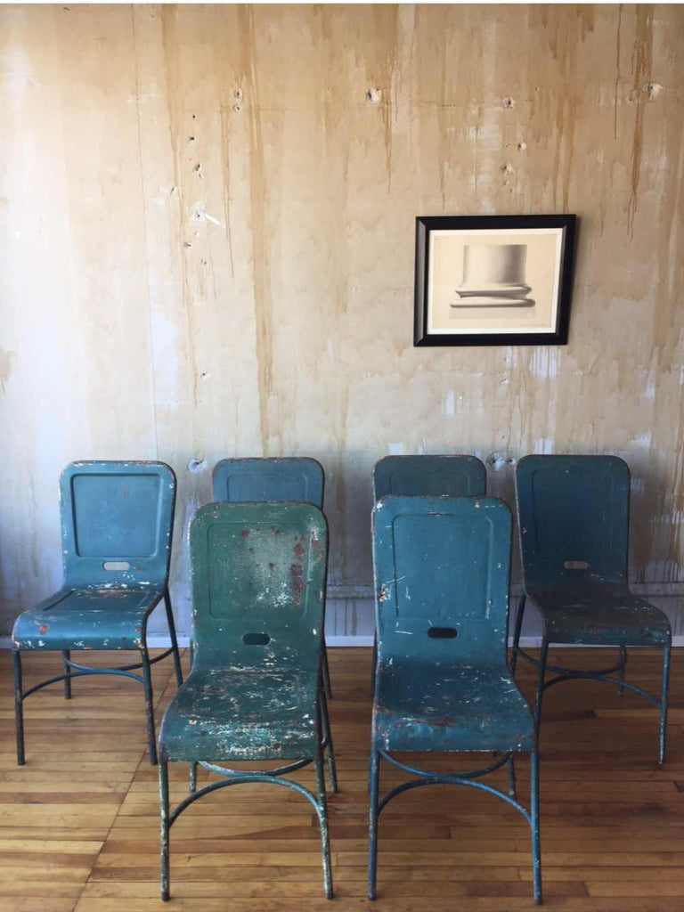 (SOLD) Vintage Dining Chairs - set of six