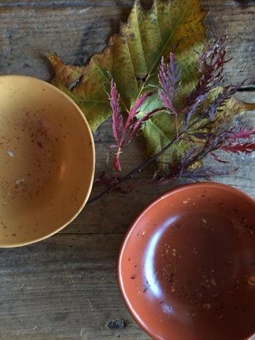 Yellow Ochre & Cotto Rosso Red - Condiment Bowls